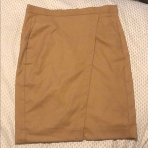 Banana republic faux wrap work skirt